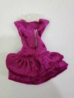 Vintage Purple Velvet Dress Groovy Girls Genuine Barbie tag white lace collar