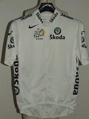 MAGLIA BICI CICLISMO SHIRT MAILLOT CYCLISM BIANCA TOUR DE FRANCE 2008 NIKE...