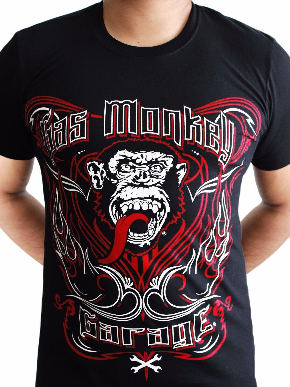 9a8cd8f6ffd Gas Monkey Garage Tattoo Keyline GMG Kustom Builds Licensed Black Mens  T-shirt