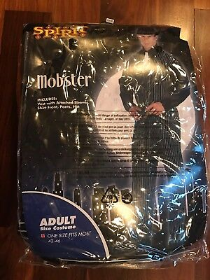 Monster MENS Costume W/vest, Shirt Front, Pants, Hat Adult Size 42-46 - Monster Costume Men