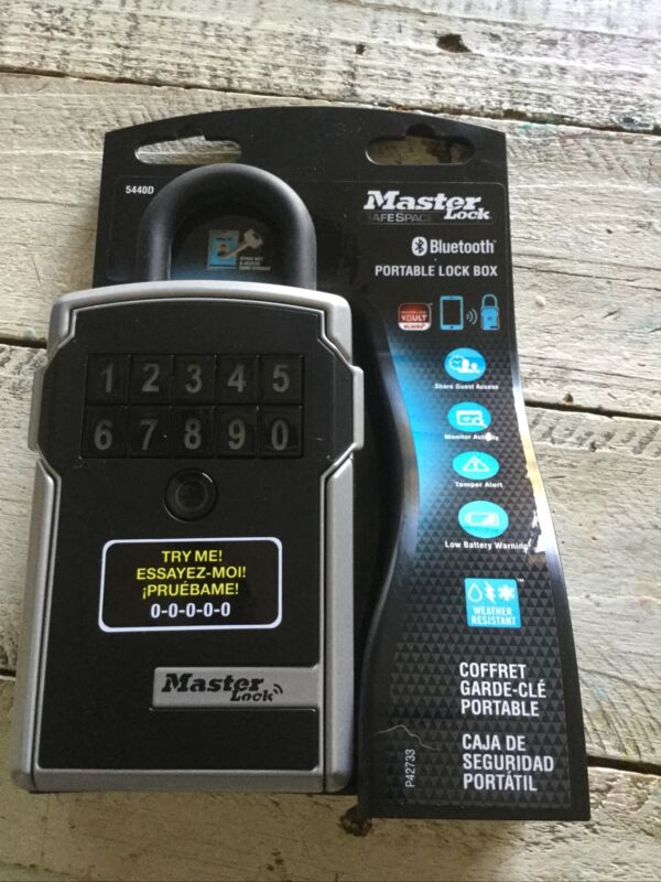 Master Lock safe space 5440D Bluetooth Portable Lock Box NEW Free Shipping