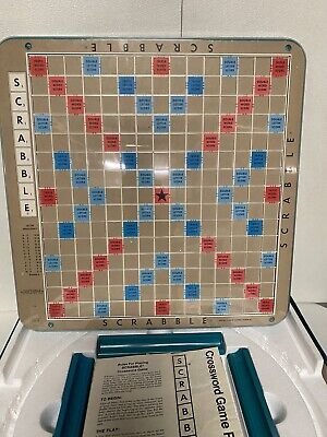 1977 Scrabble Deluxe Edition Turntable. All Tiles Present.