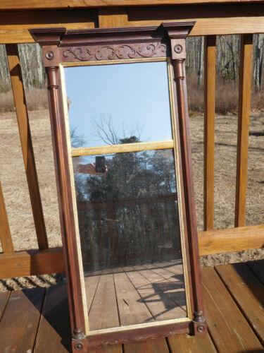 1800 ANTIQUE BOSTON MASS. AMERICAN FEDERAL HEPPLEWHITE WOOD PIER LOOKING GLASS