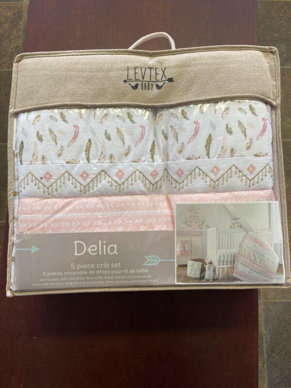 LEVTEX baby Delia Girl 5 Piece Crib Set