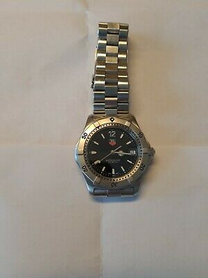 Tag Heuer 2000 professional quartz watch WK1110 on Tag Heuer Stainless bracelet.