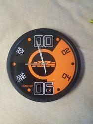 KTM WALL CLOCK BRUSHED STAINLESS STEEL HANDS 13.75 DIAMETER