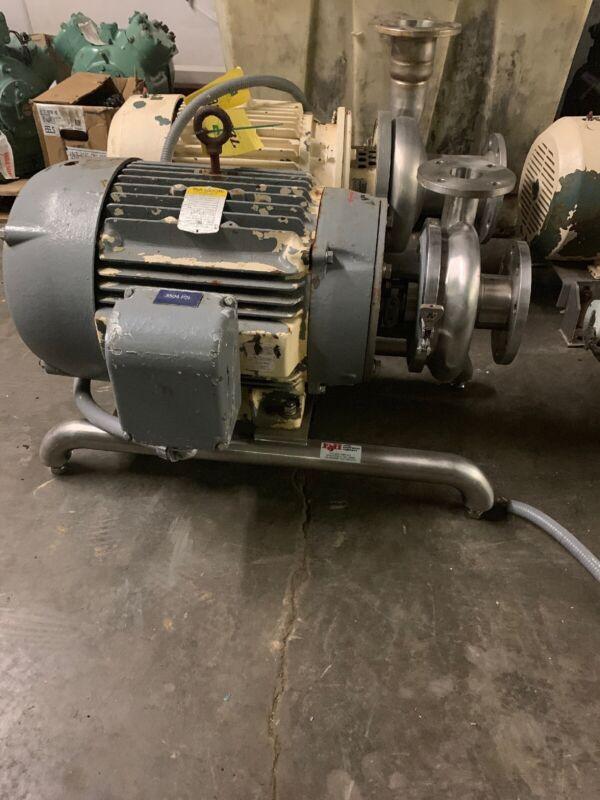 Waukesha Cherry Burrell Model 2065 Pump w/ Baldor JMM3559T 40HP Motor 2.5x4
