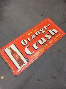 1941 Crushy Orange Crush Sign 306-717-9678