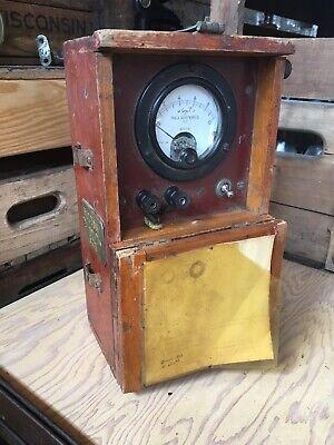 Weston 301 Ground Tester Gauge Wood Case 1950s Wisconsin Electric Test Equipment