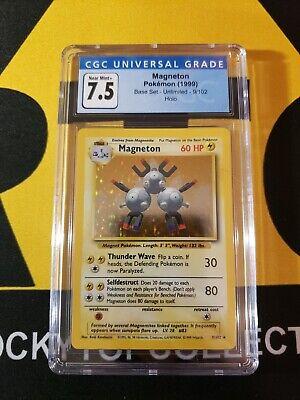 Pokemon CGC 7.5 Magneton Base Set Unlimited Holo 9/102 *PSA BGS*