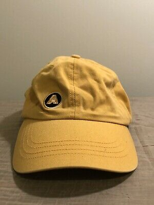 Vintage ABERCROMBIE & FITCH Leather Strap Hat Ball Cap Yellow