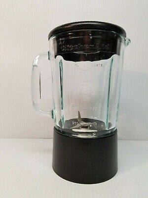 Kitchen Aid 40oz Blender Pitcher Complete 5 Cup Replacement Glass Jar Black