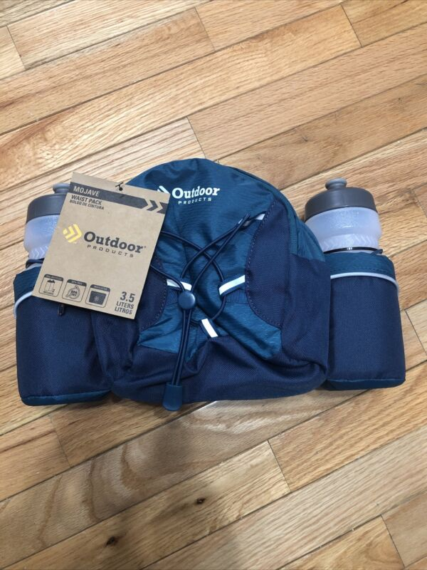 Outdoor Products Hydration Waist Pack 2 Bottle Hiking Fanny Pack Bag