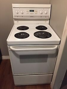 Apartment size oven and fridge