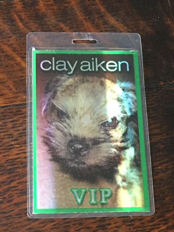 Clay Aiken GREEN VIP Pass Super Rare!