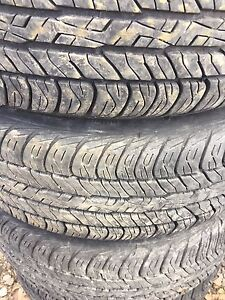 185/60/15 set of 6 tires on aluminium rims