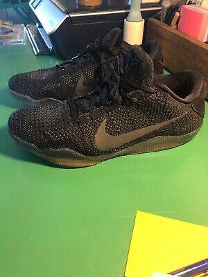 best service 78a1c d53de Nike Kobe XI 11 Elite Low SPACE TRIPLE BLACK BLACKOUT 822675-001 Size 12  Rare