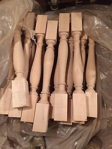 Unfinished Maple Table legs