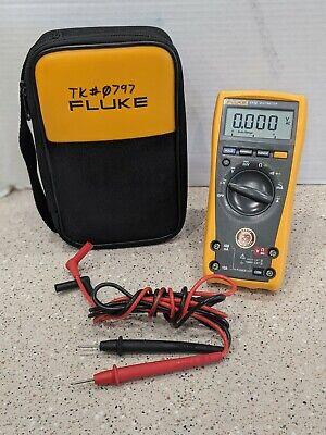 Genuine Fluke 77 Iv Digital Multimeter 77-4 W Fluke Leads And Case 77 Iv Great