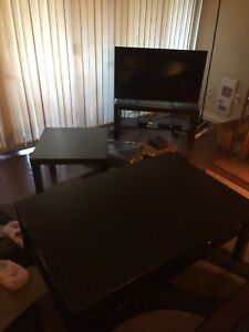 Three piece living room table set
