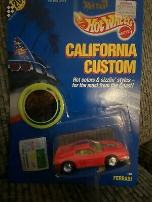 HOT WHEELS CALIFORNIA CUSTOM FERRARI TESTAROSSA NEON PINK MOC FREE SHIPPING