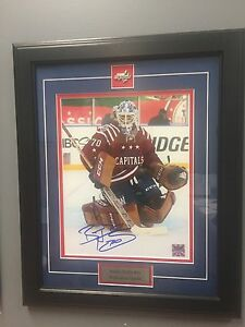 Braden Holtby Autographed Framed Picture with COA