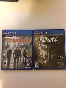 Tom Clancy's The division & Fallout 4 (PS4)