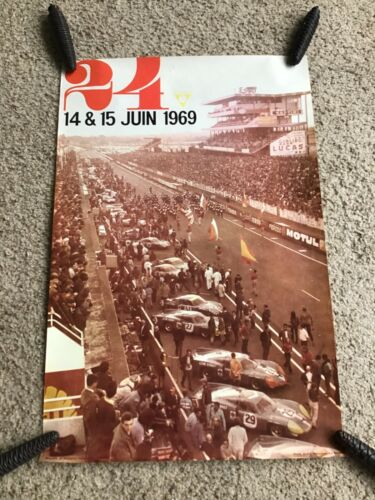 1969  24 hour of  Le Mans 14-15 th. of june racing poster.