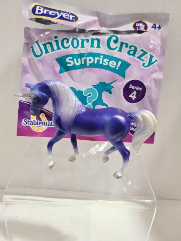 2020 Breyer Unicorn Crazy Surprise Series 4 Purple Arabian w/ Bag