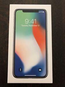 iPhone X 64gig Silver with case and fast charger