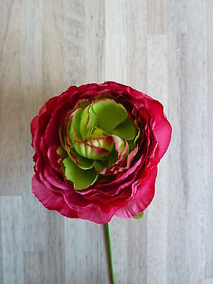 36 x Ranunkel Pick 36tlg Set Seidenblume Kunstblumen pink 30347-10 F62