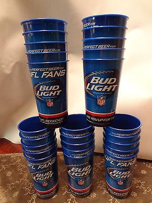 25 Bud Light NFL Heavy Duty Plastic Beer Cups Budweiser Super Bowl Party Favor](Super Bowl Favor)