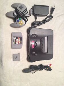 Nintendo 64 console all wires and 1 game 1 controller