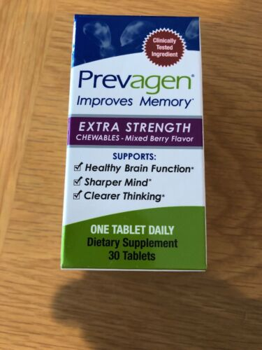 NEW Prevagen Improves Memory Extra Strength Chewables 20mg B