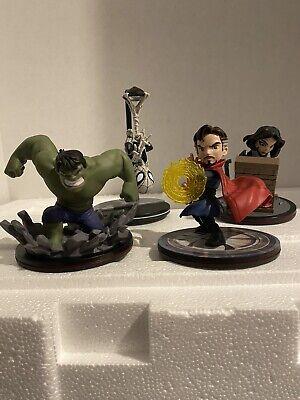Q Fig Marvel Lot - Doctor Strange, Hulk, Spider-Man, Jessica Jones