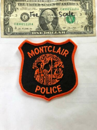 Montclair New Jersey Police Patch un-sewn in Great Shape