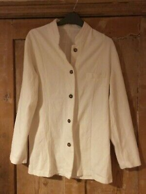 Earth Collection cotton long sleeve mandarin collar button front jacket 14 for sale  Shipping to Ireland
