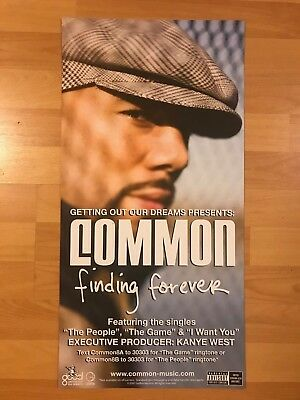 COMMON Finding Forever Promo POSTER Hip Hop Rap Okayplayer Mos Def Kanye West