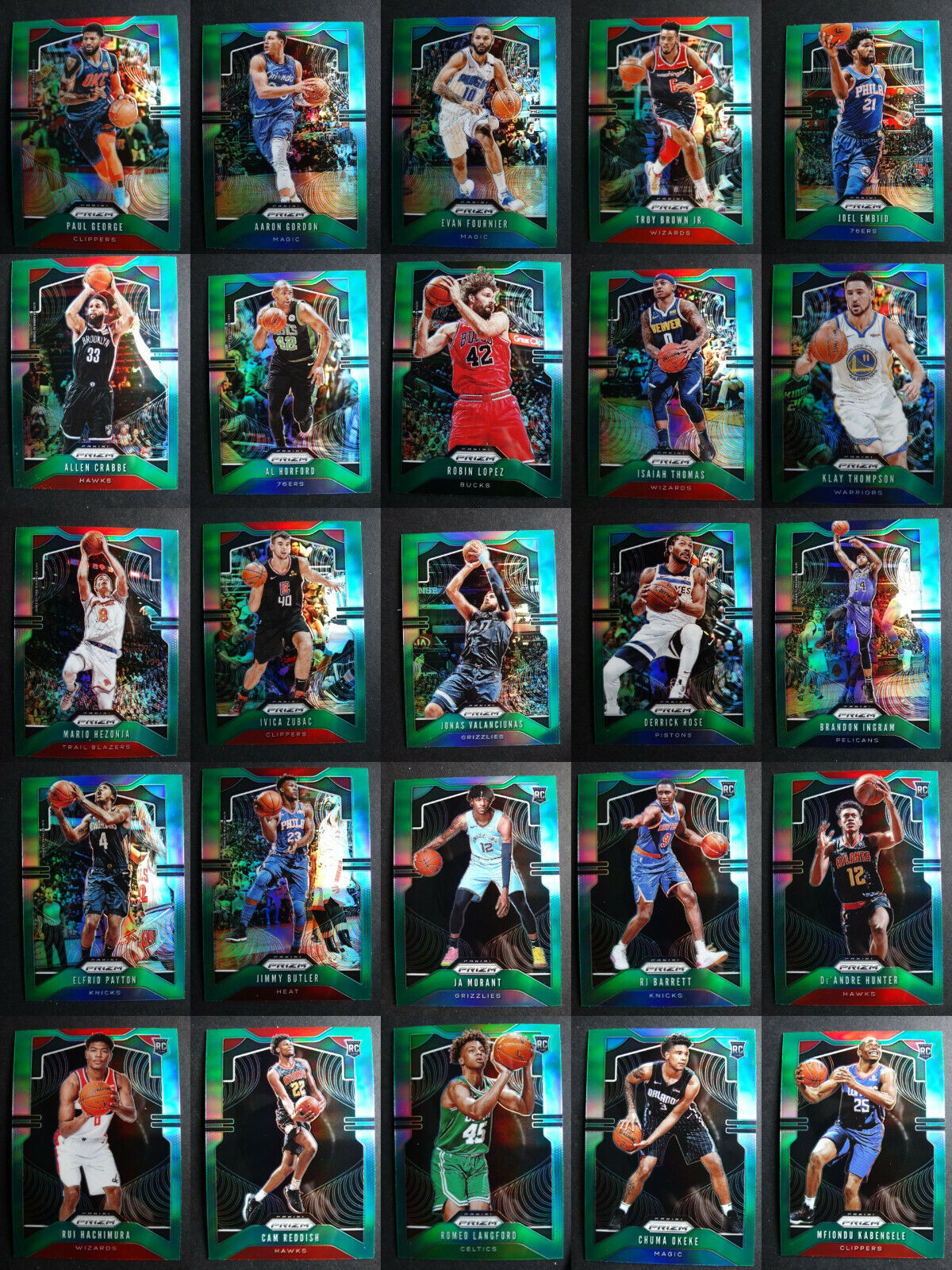 2019 20 prizm green parallel basketball cards