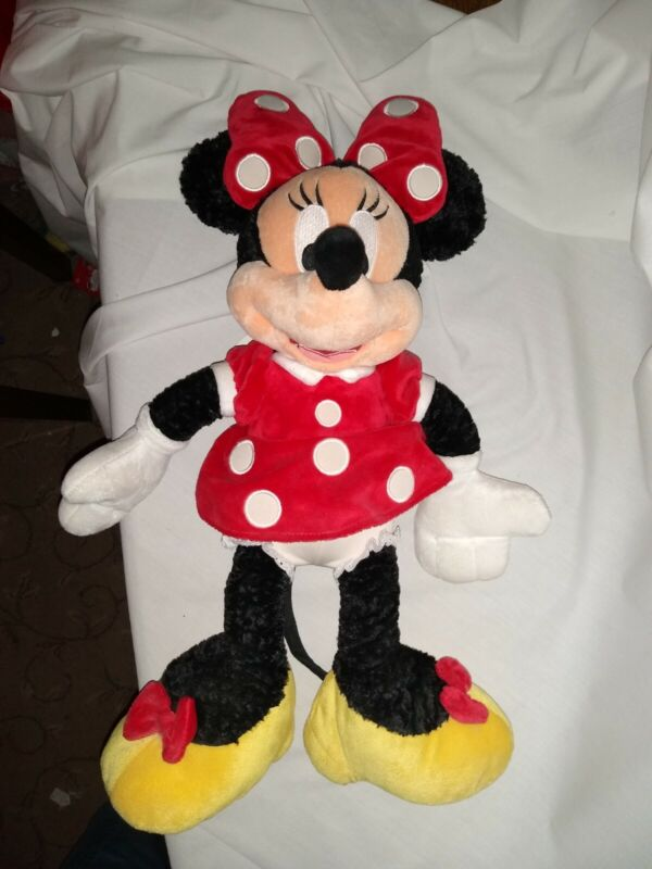 17%22+cute+soft+minnie+mouse+disney+theme+parks+stamp+plush+doll+new+tag+