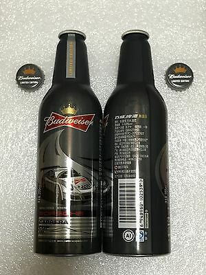 "China Budweiser Beer ""Porsche Carrera Cup"" 355ml Empty Aluminum Bottle"
