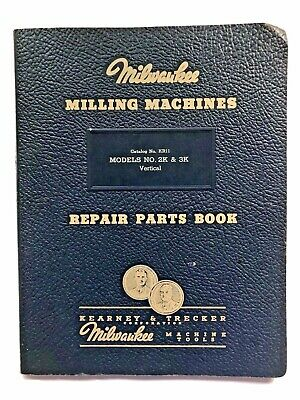 Vintage Milwaukee Milling Machines 2k 3k Repair Parts Book Catalog