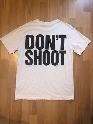 KATHERINE HAMNETT X YMC DON'T SHOOT BACK PRINT LOGO TSHIRT WHITE SIZE SMALL