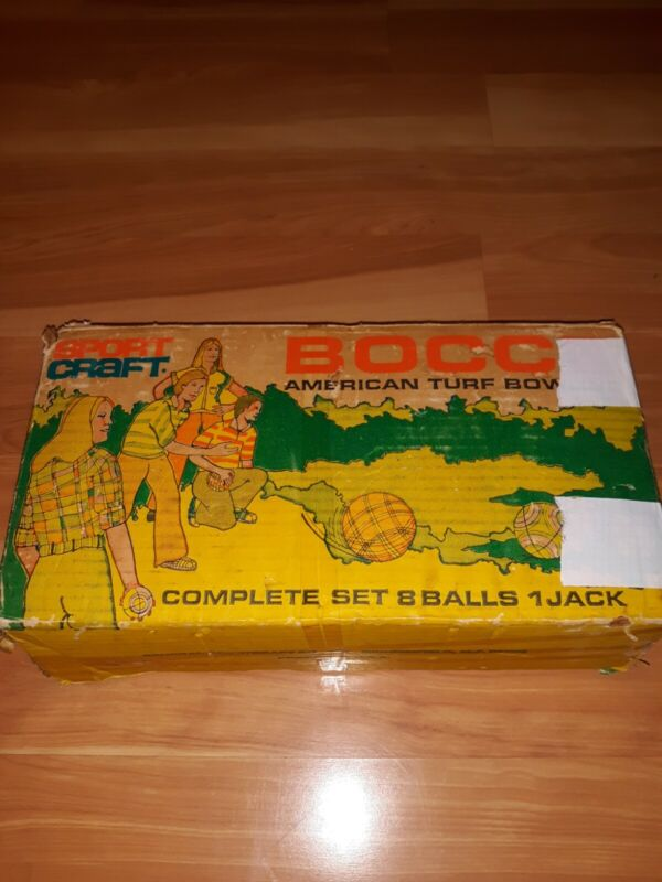 Vintage...Sportcraft...Bocce American Turf Bowling Set...Made In Italy