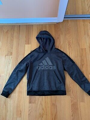 Men's Gray Adidas Pullover Hoodie/Sweater Size S