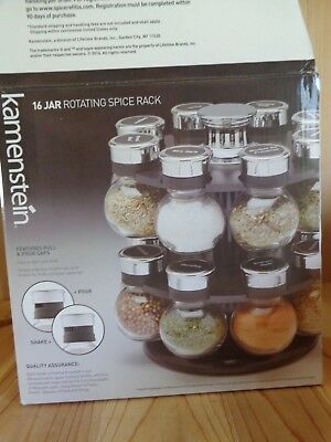Kamenstein REPLACEMENT JAR with Spice Round Glass Black Silver Pull Pour Cap