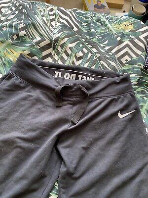 Nike Woman Size Large Sweatpants Yoga Pants Tie Ankle Elastic Waist