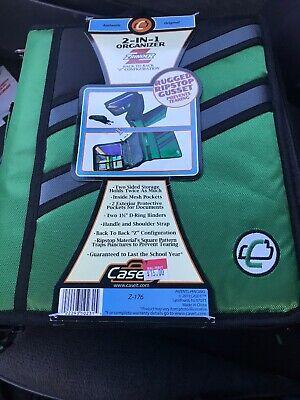 Case-it Z-binder Two-in-one 1.5 3 Ring Zipper Binder Green Z-176 The Z
