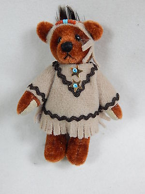 "World of Miniature Bears 2.5"" Plush Bear Nita Tan #5007 Collectible Bear"