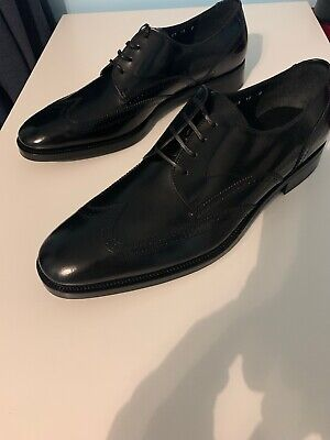 "Salvatore Ferragamo Men's ""Pitti"" Shoes Black Lace Up Size 12 US"